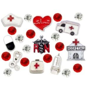 Jewelry - ‼️2 for $16 Floating Charms 23pc RN Nurse